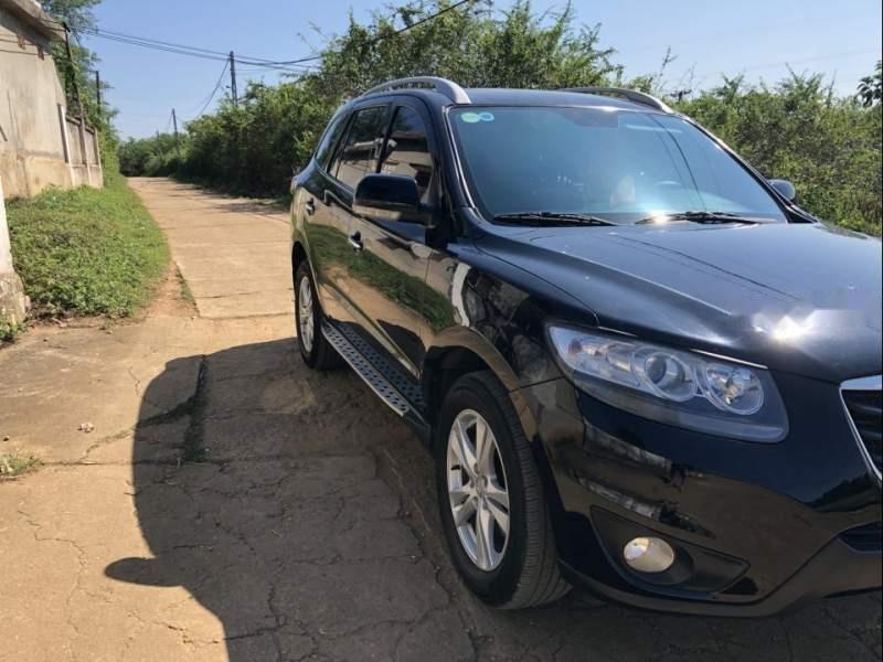 Bán Hyundai Santa Fe 2011, màu đen, xe nhập-3