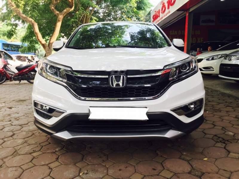 Bán Honda CRV 2.4 Sx 2015 màu trắng, tư nhân một chủ từ đầu-1