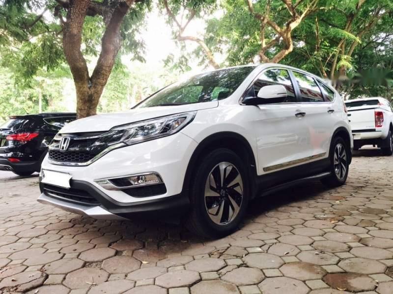 Bán Honda CRV 2.4 Sx 2015 màu trắng, tư nhân một chủ từ đầu-0