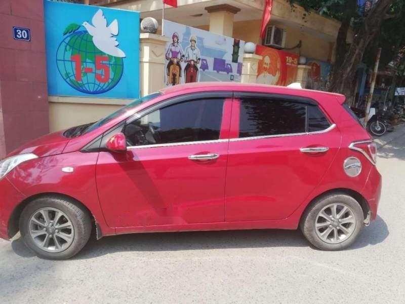 Cần bán gấp Hyundai Grand i10 MT sản xuất 2015, màu đỏ, nhập khẩu xe gia đình-0