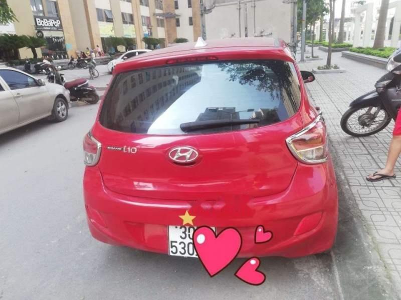 Cần bán gấp Hyundai Grand i10 MT sản xuất 2015, màu đỏ, nhập khẩu xe gia đình-1