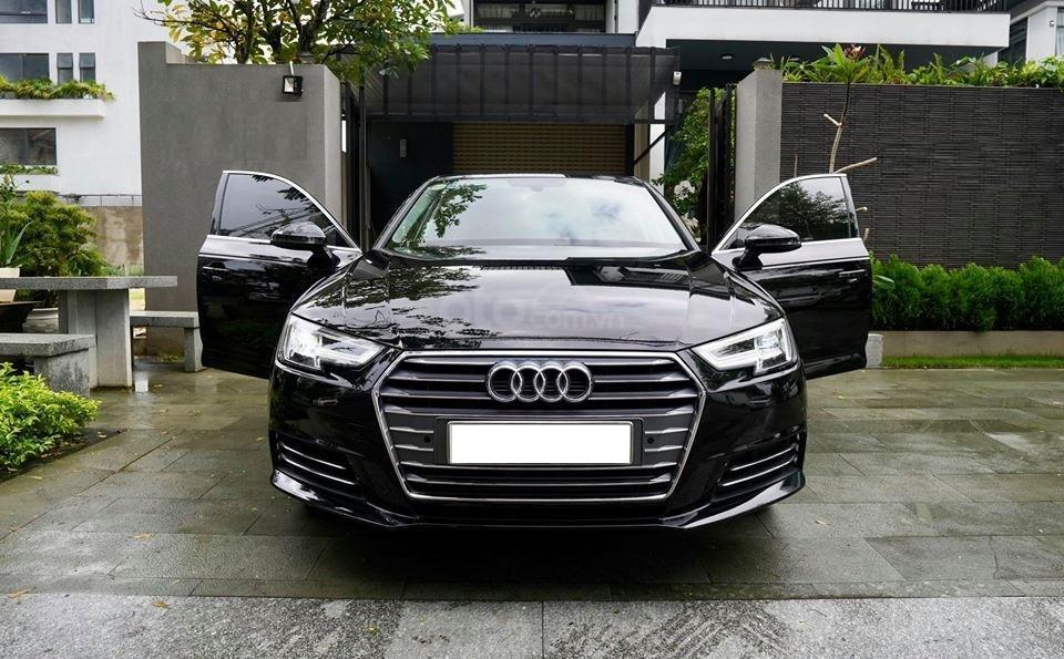 Bán Audi A4 2.0 TFSI màu đen, sản xuất 12/2017, đăng ký 10/2018, tên tư nhân chính chủ-1