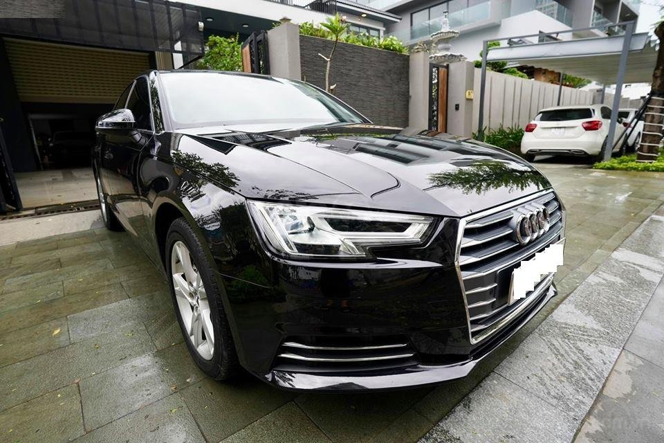 Bán Audi A4 2.0 TFSI màu đen, sản xuất 12/2017, đăng ký 10/2018, tên tư nhân chính chủ-0