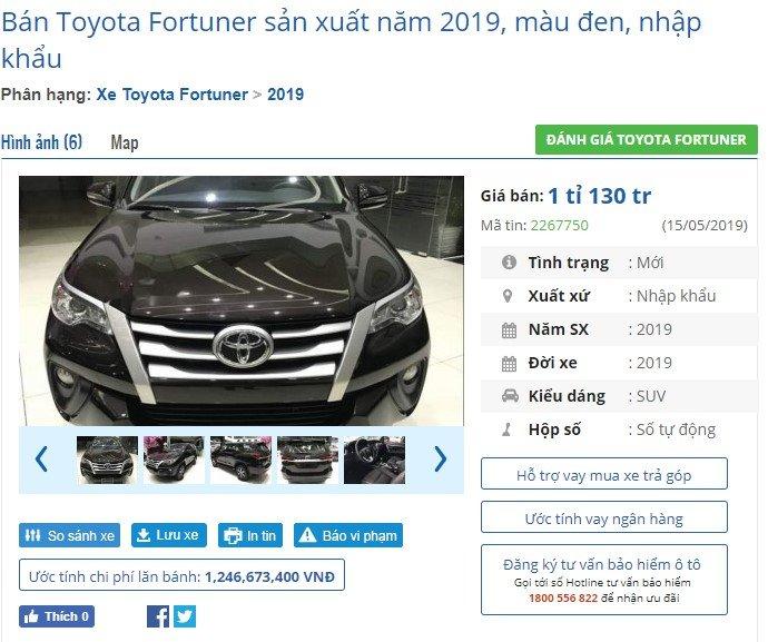 Liên tục rớt hạng xe bán chạy, Toyota Fortuner giảm giá tại đại lý đẩy doanh số? - Ảnh 1.