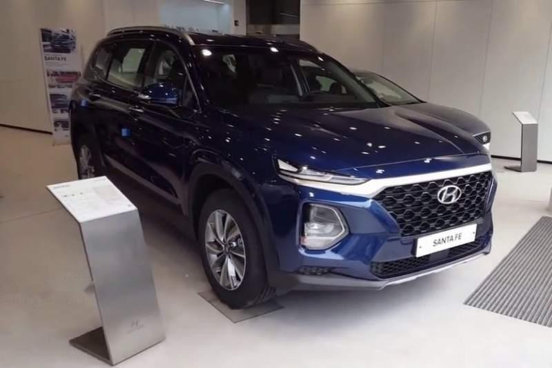Bán ô tô Hyundai Santa Fe sản xuất 2019, màu xanh lam-0