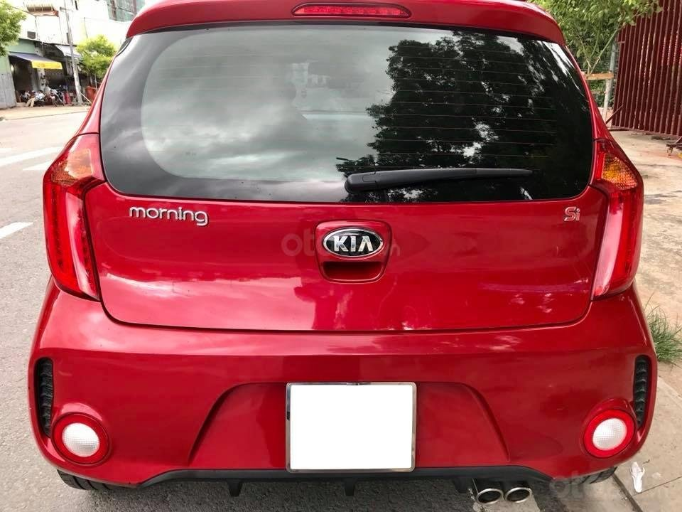 Bán xe Kia Morning Si đời 2017, số tự động, màu đỏ-2
