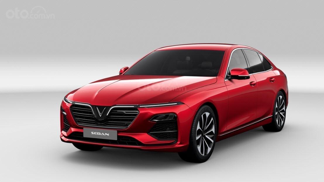 Cần bán VinFast LUX A2.0 cao cấp (Full option, nội thất da Nappa), màu đỏ, bàn giao xe T9.2019-0