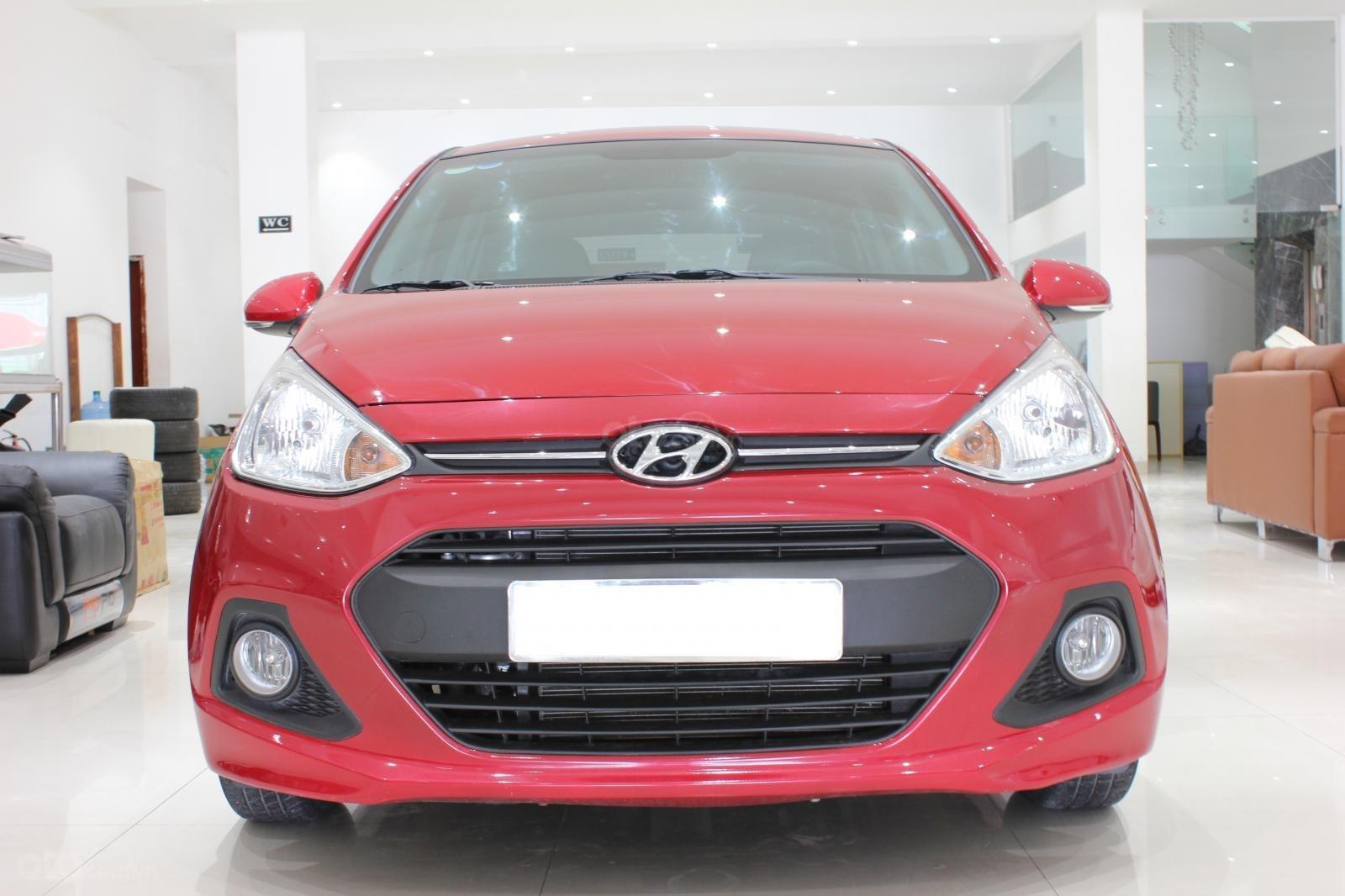 Bán xe Hyundai Grand i10 1.2 (Ấn Độ) năm sản xuất 2016, màu đỏ, nhập khẩu-0