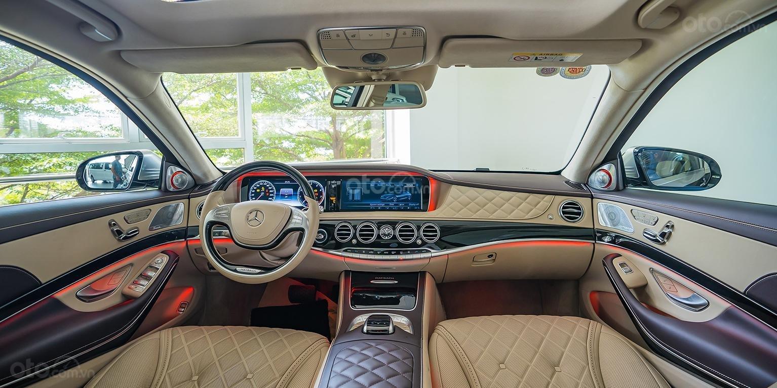 Bán Maybach Mercedes-Benz S500 màu ruby black beige, đi 39 km, nhập khẩu, mới 99%-3