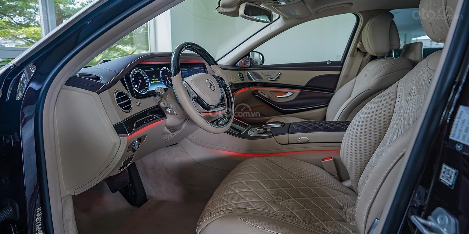 Bán Maybach Mercedes-Benz S500 màu ruby black beige, đi 39 km, nhập khẩu, mới 99%-4