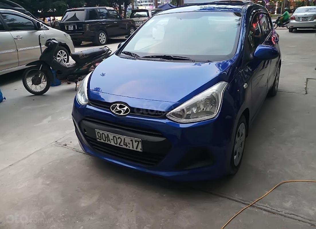 Xe Hyundai Grand i10 1.0 MT Base đời 2014, màu xanh lam, nhập khẩu, xe biển tỉnh-2