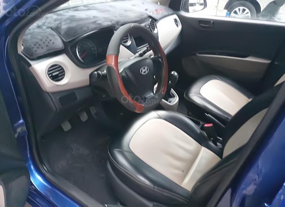 Xe Hyundai Grand i10 1.0 MT Base đời 2014, màu xanh lam, nhập khẩu, xe biển tỉnh-1