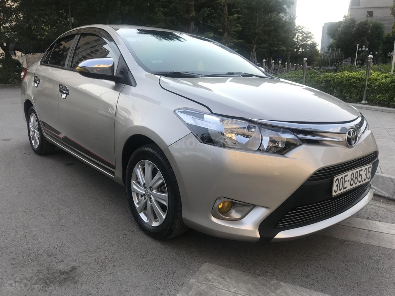 Cần bán xe Toyota Vios E đời 2016, màu vàng-2