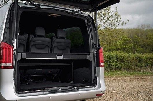 So sánh Mercedes V-Class 2019 và Peugeot Traveller 2019 về trang bị giải trí.