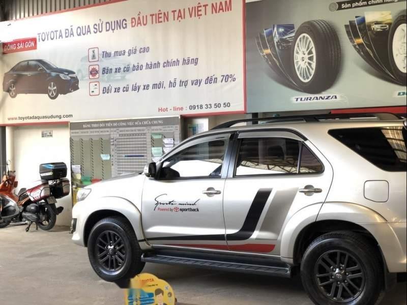 Bán Toyota Fortuner G đời 2015, màu bạc xe gia đình-0
