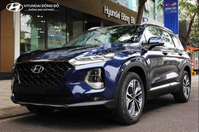 Bán Hyundai Santa Fe năm 2019, màu xanh lam-2