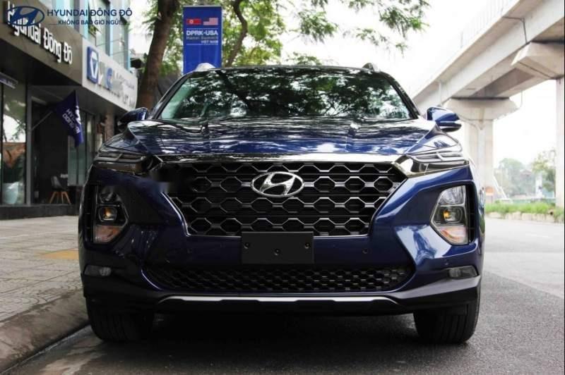 Bán Hyundai Santa Fe năm 2019, màu xanh lam-1