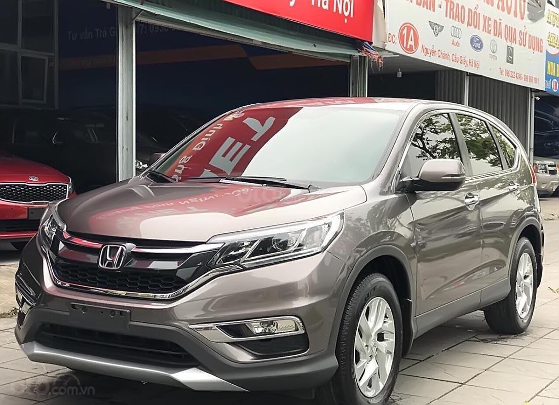 Bán ô tô Honda CR V 2.0 AT đời 2015, màu xám số tự động-4