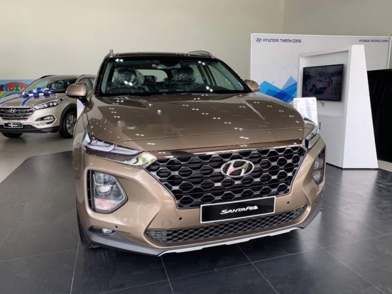 Bán Hyundai Santa Fe sản xuất năm 2019, màu vàng-0
