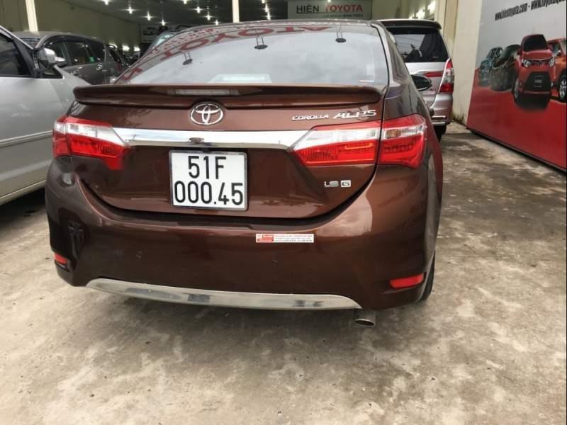 Bán Toyota Corolla altis 2014, màu nâu-0