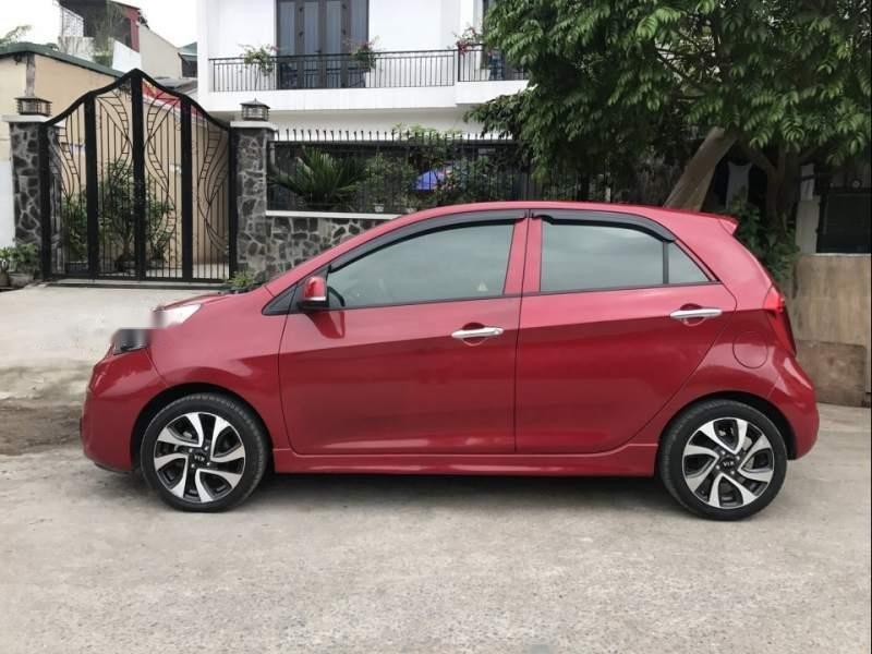 Bán ô tô Kia Morning Si 1.25 sản xuất 2017, màu đỏ chính chủ (3)