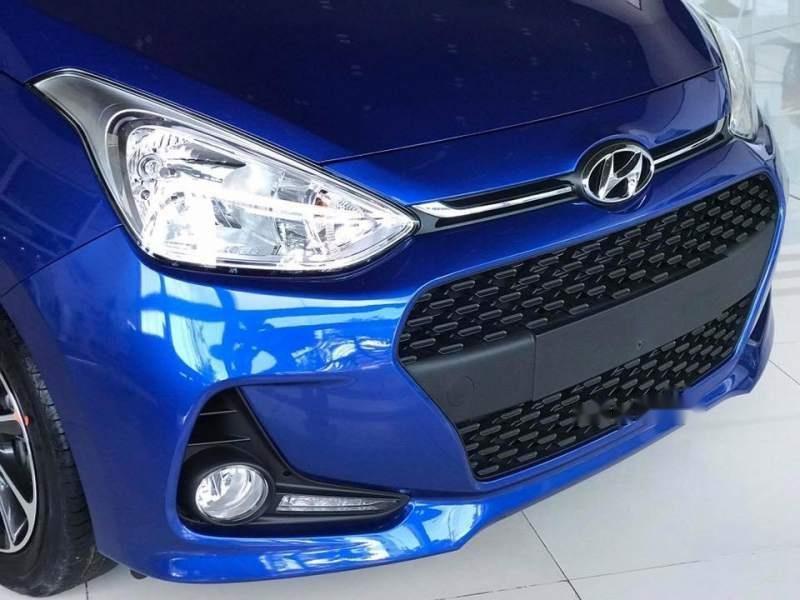Bán xe Hyundai Grand i10 AT 2019, màu xanh lam-3