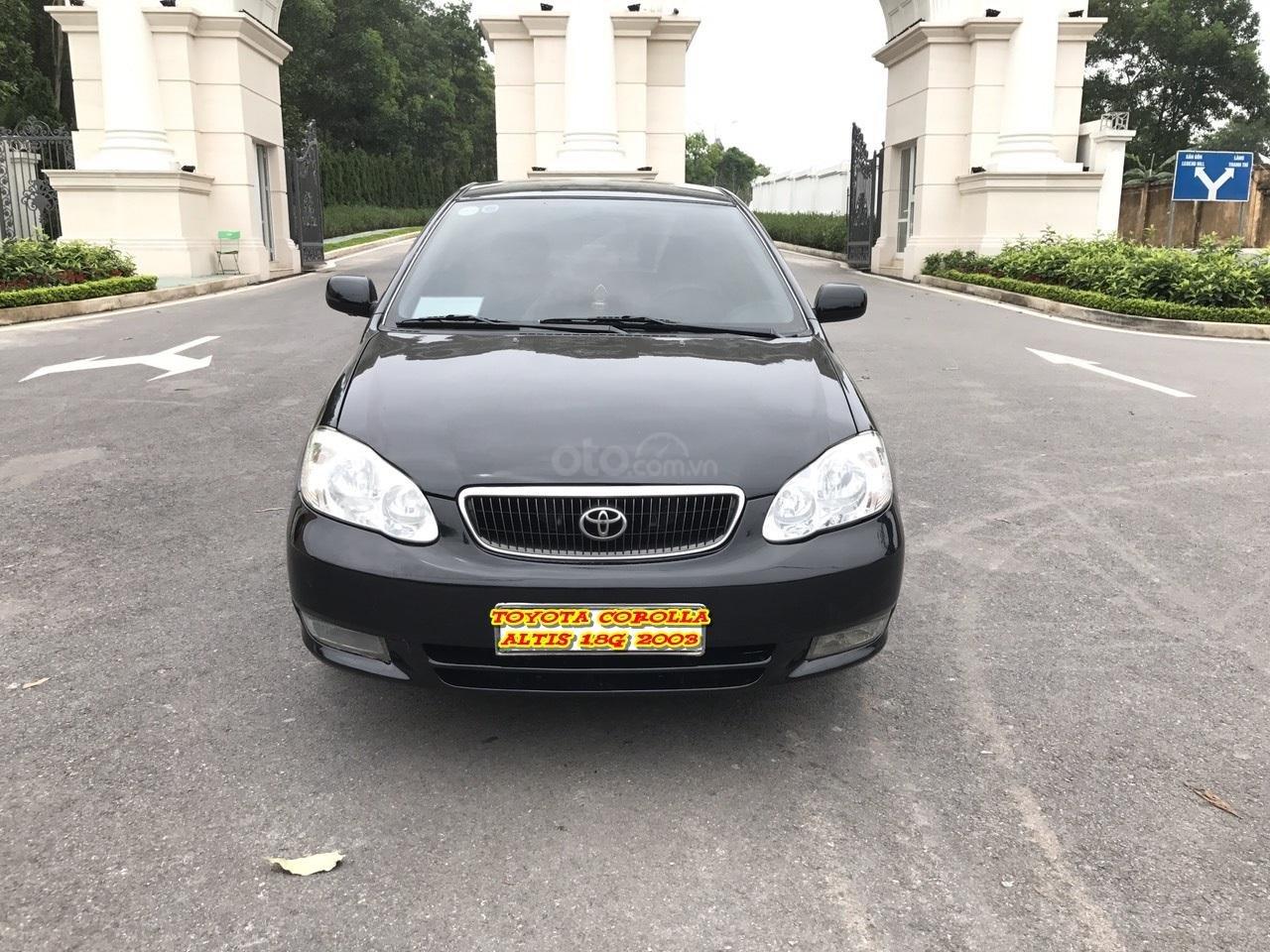 Cần bán xe Toyota Corolla altis 1.8G đời 2003, màu đen. Chính chủ cực chất lượng-0