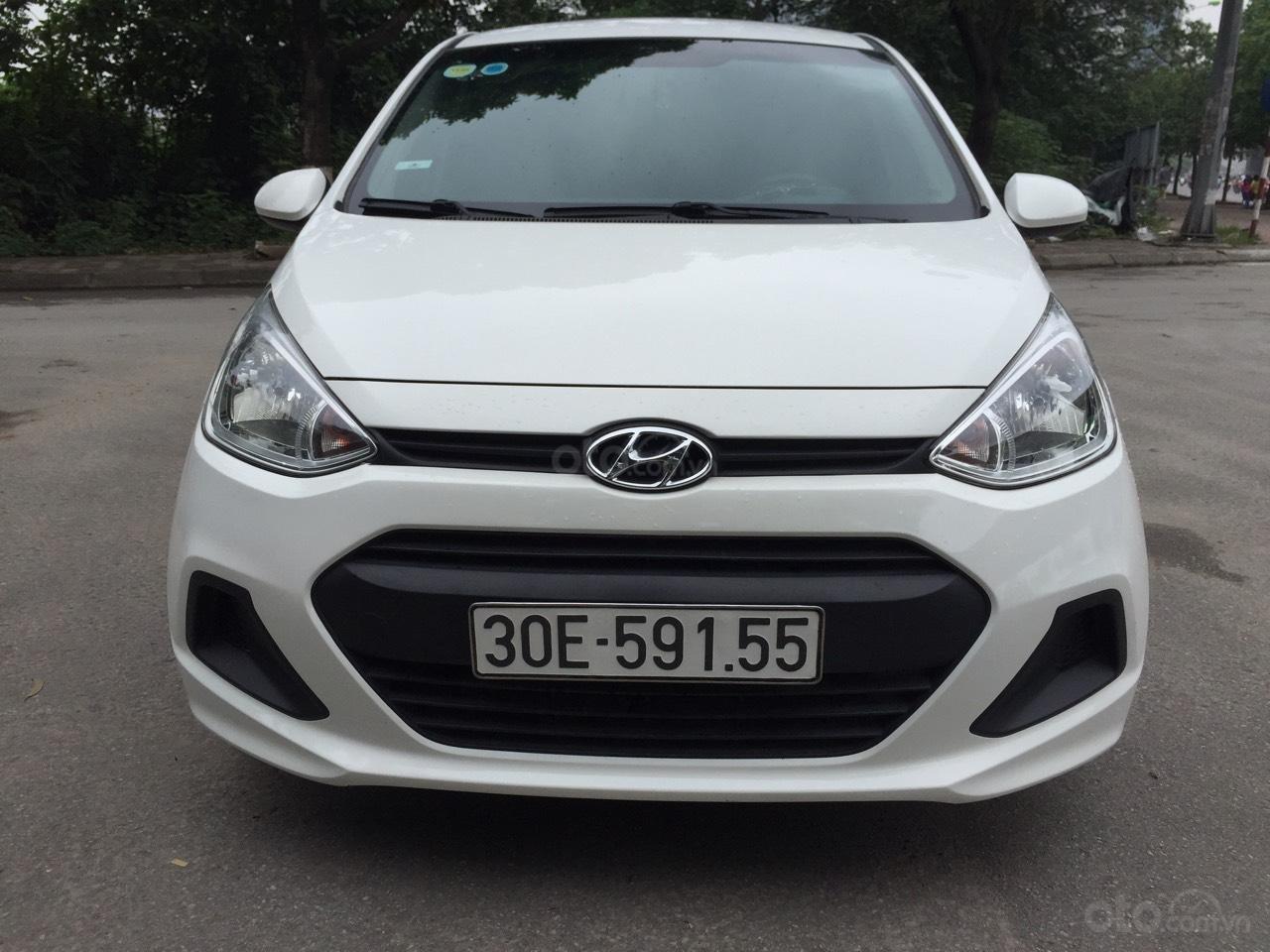 Xe Hyundai Grand i10 sản xuất năm 2016, màu trắng, nhập khẩu nguyên chiếc-0