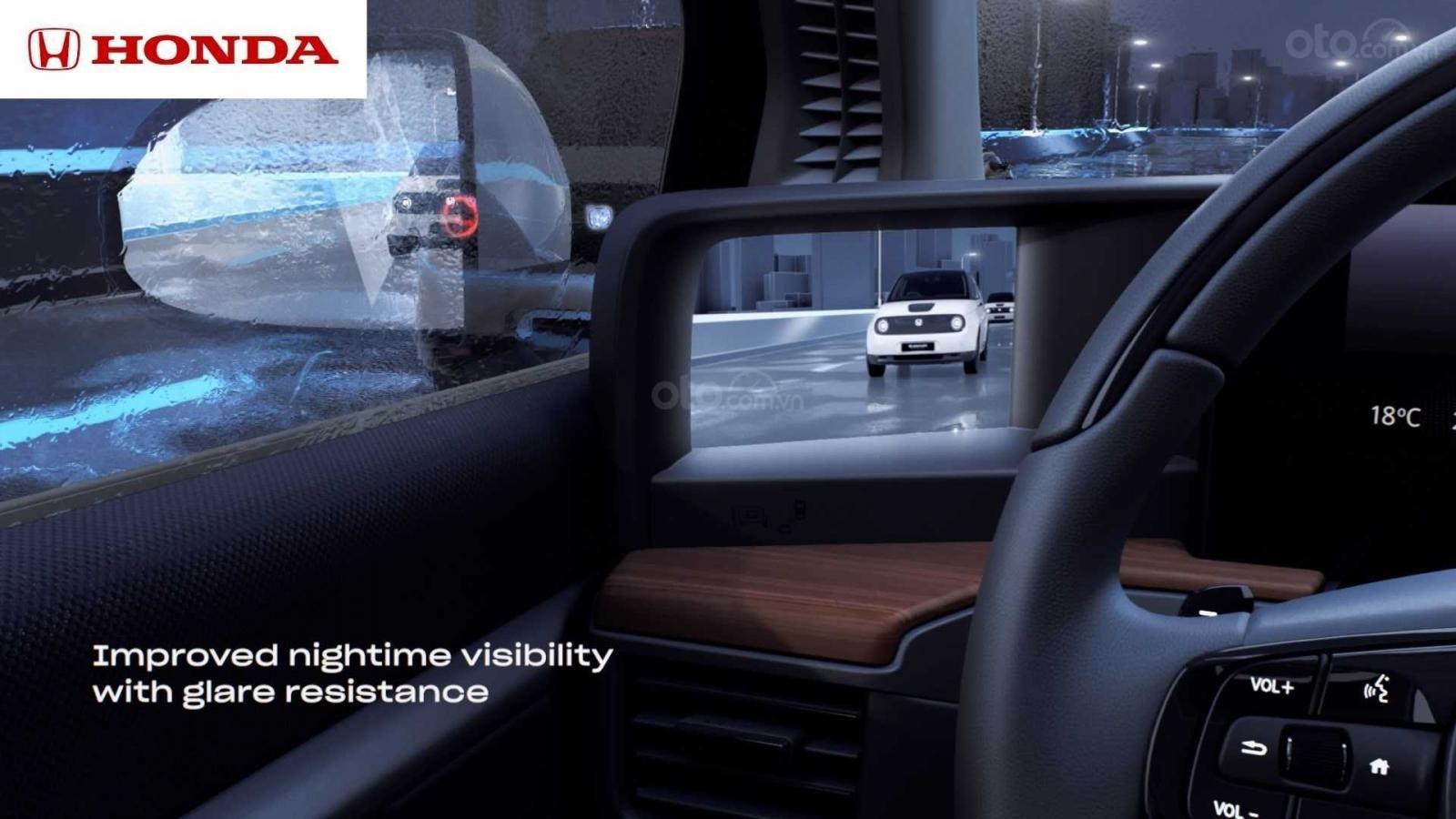 Ô tô điện Honda E tăng tầm nhìn