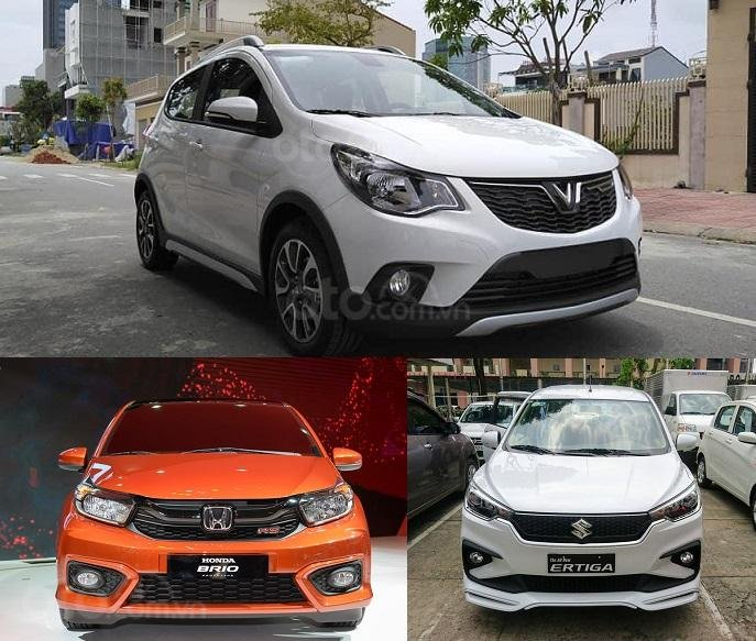 Ảnh VinFast Fadil, Honda Brio và Suzuki Ertiga