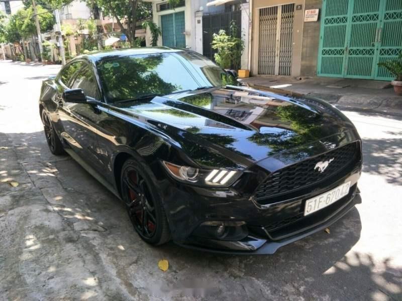 Bán Ford Mustang 2.3L Ecoboost đời 2015, màu đen, xe nhập, 2 cửa-0