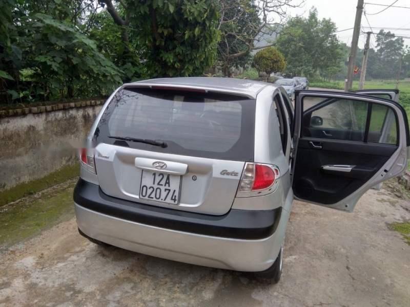 Bán xe Hyundai Getz 1.1 MT sản xuất 2009, màu bạc số sàn  -1