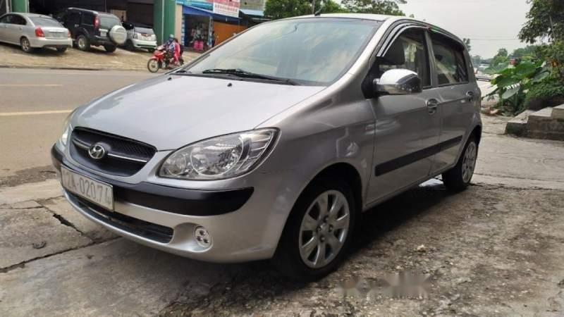 Bán xe Hyundai Getz 1.1 MT sản xuất 2009, màu bạc số sàn  -0