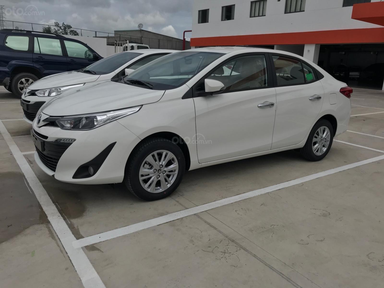 Toyota Vios G 2019 số tự động, màu trắng, giá giảm mạnh, nay chỉ còn 571 triệu full option-1