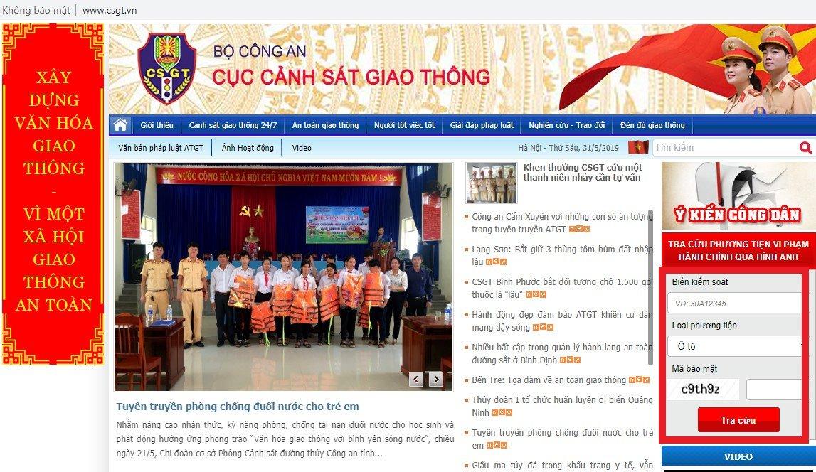 Từ ngày 1/6/2019, thêm cách tra phạt nguội cho chủ xe ô tô ở Việt Nam a2