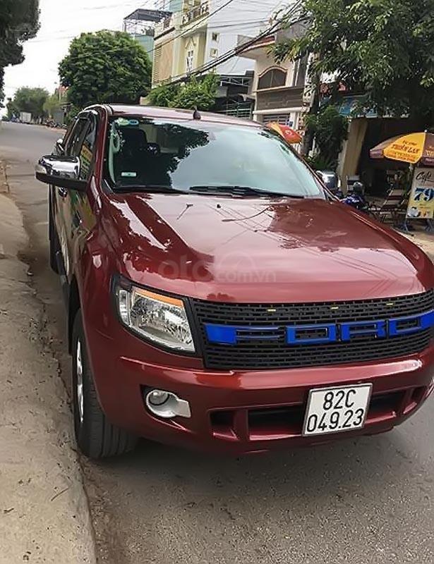 Bán Ford Ranger XLT 2.2L 4x4 MT đời 2014, màu đỏ, nhập khẩu nguyên chiếc, 430 triệu-0