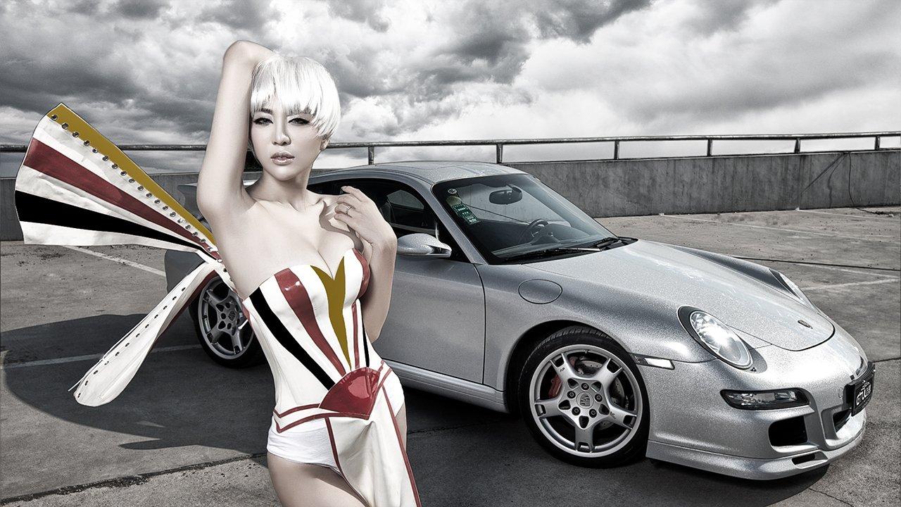 Người đẹp và siêu xe thể thao Porsche 911 Carrera 4S a2