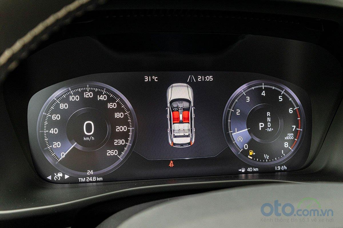 Bảng đồng hồ của Volvo XC40 2019 sử dụng màn hình điện tử 12,3 inch.