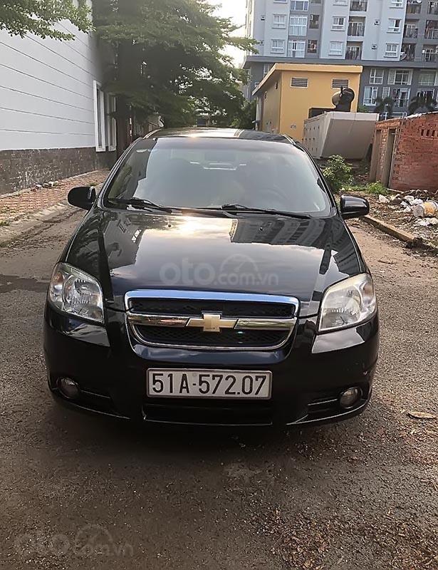 Cần bán lại xe Chevrolet Aveo sản xuất 2013, màu đen số sàn-1