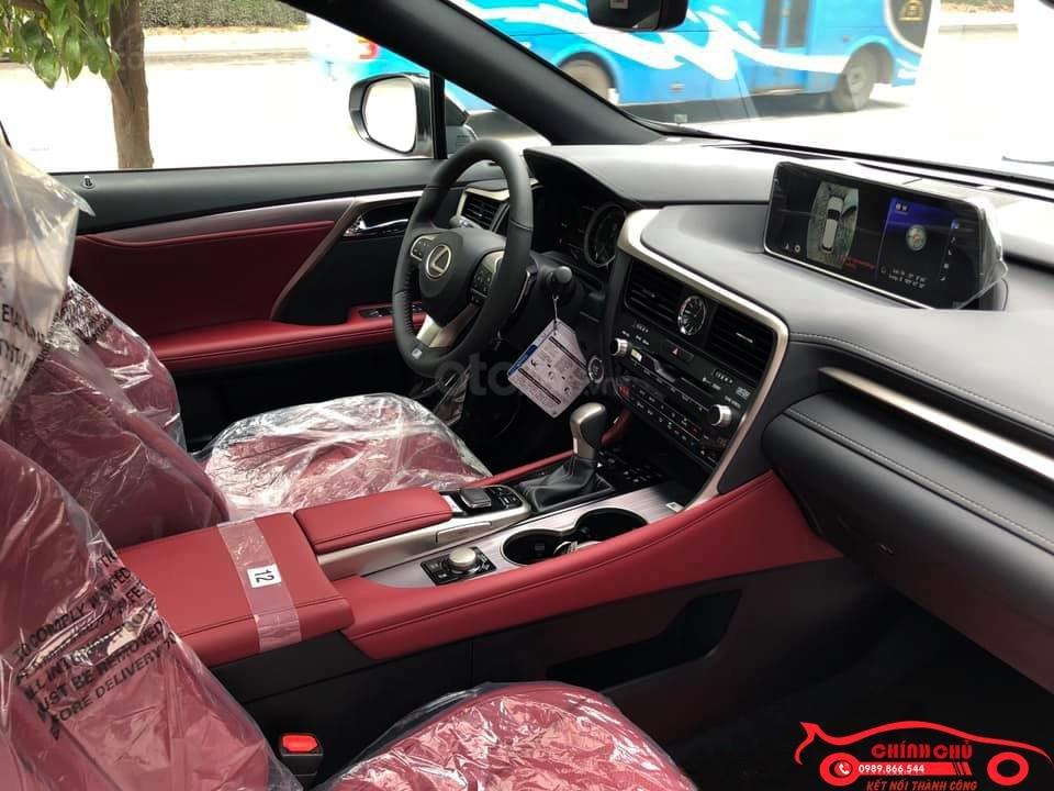 Giao ngay Lexus RX 350 F-Sport SX 2019, màu trắng nội thất đỏ cực hiếm-6