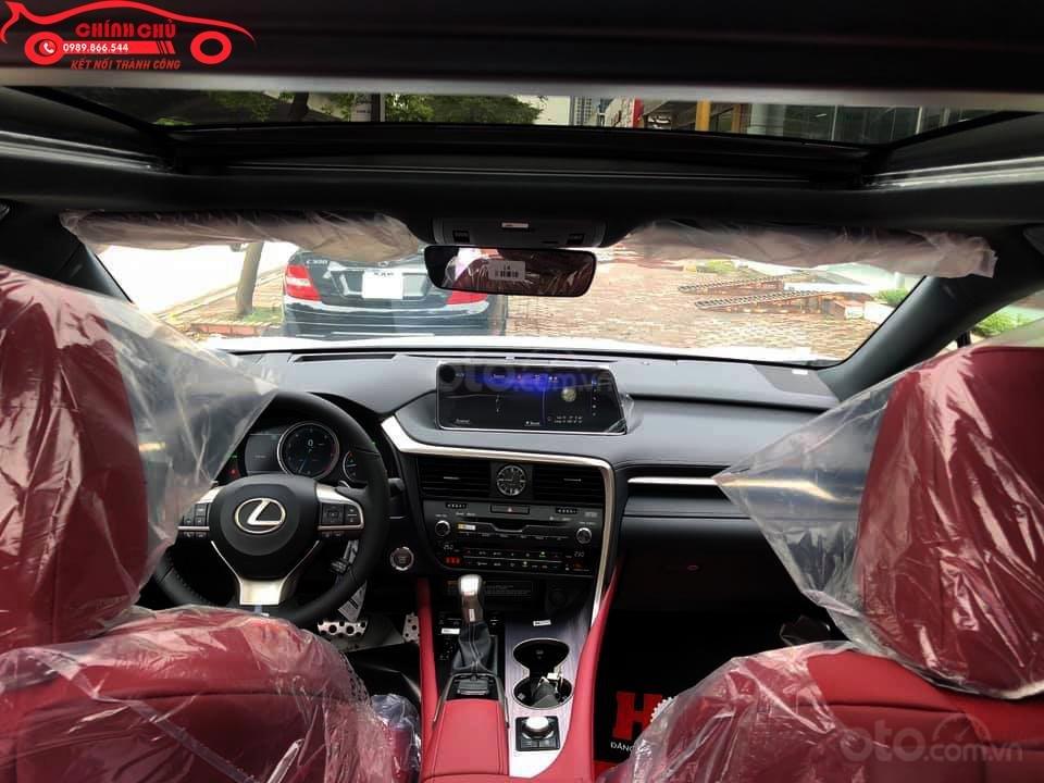 Giao ngay Lexus RX 350 F-Sport SX 2019, màu trắng nội thất đỏ cực hiếm-3