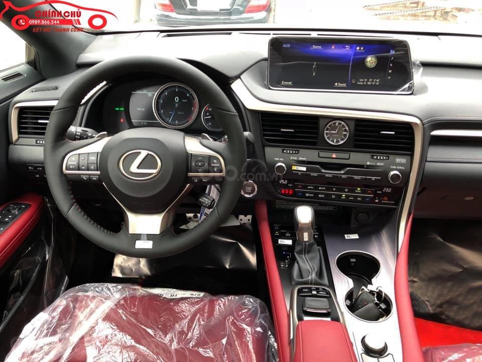 Giao ngay Lexus RX 350 F-Sport SX 2019, màu trắng nội thất đỏ cực hiếm-2