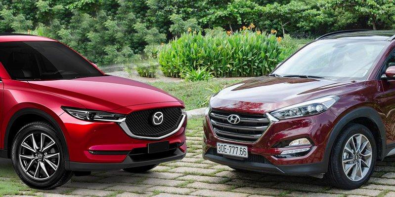 Chọn Hyundai Tucson 2019 hay Mazda CX-5 2.0L 2019 trong tầm giá 900 triệu đồng?.