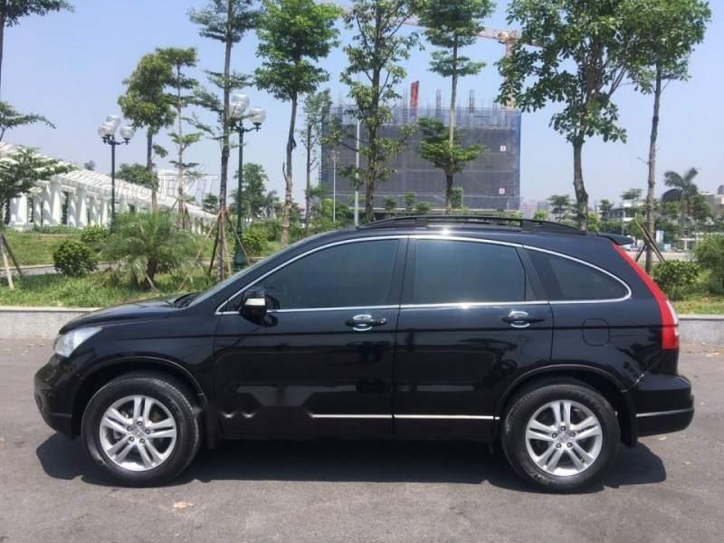 Bán Honda CR V 2010 tự động bản 2.4 full, màu đen bóng rất đẹp-0