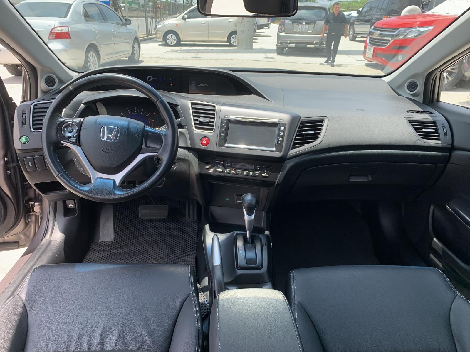 Cần bán lại xe Honda Civic 2.0 đời 2015, màu xám (7)