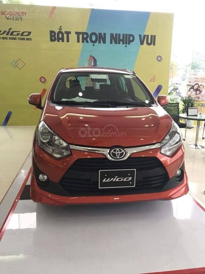 Bán Toyota Wigo 1.2G AT 2019, giá cạnh tranh 45tr + 10tr phụ kiện-1