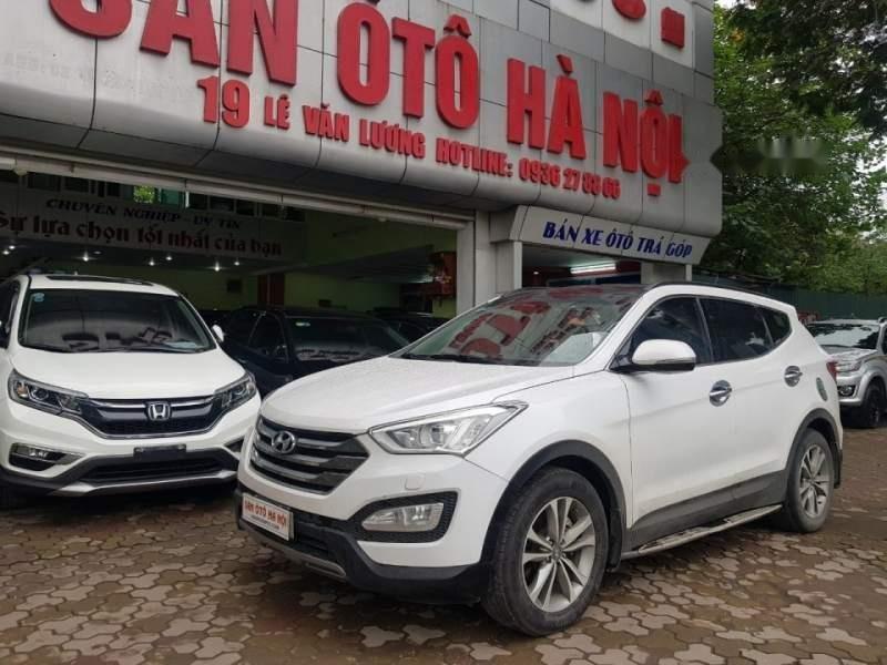 Cần bán xe Hyundai Santa Fe đời 2015, màu trắng chính chủ giá cạnh tranh-0