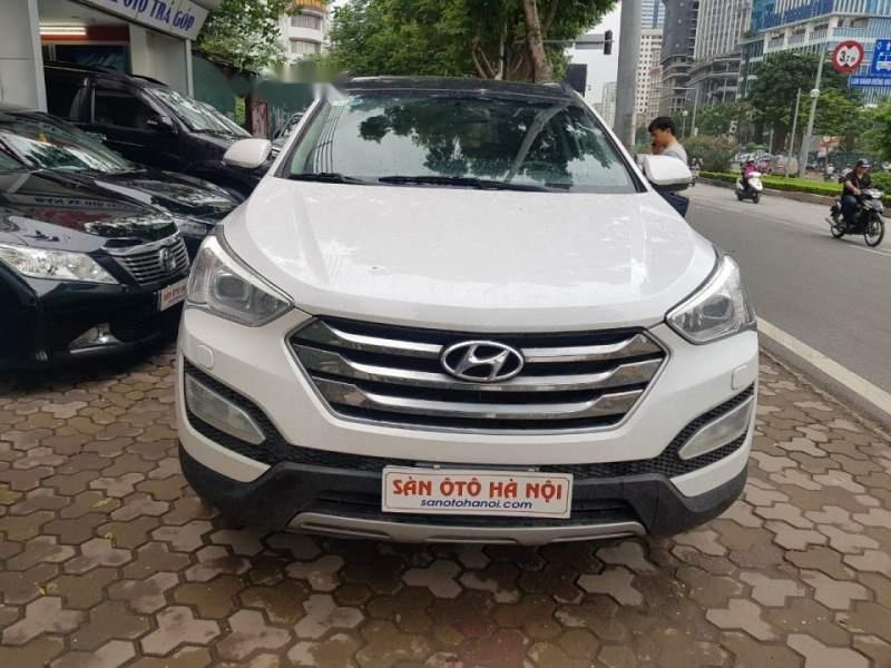 Cần bán xe Hyundai Santa Fe đời 2015, màu trắng chính chủ giá cạnh tranh-4