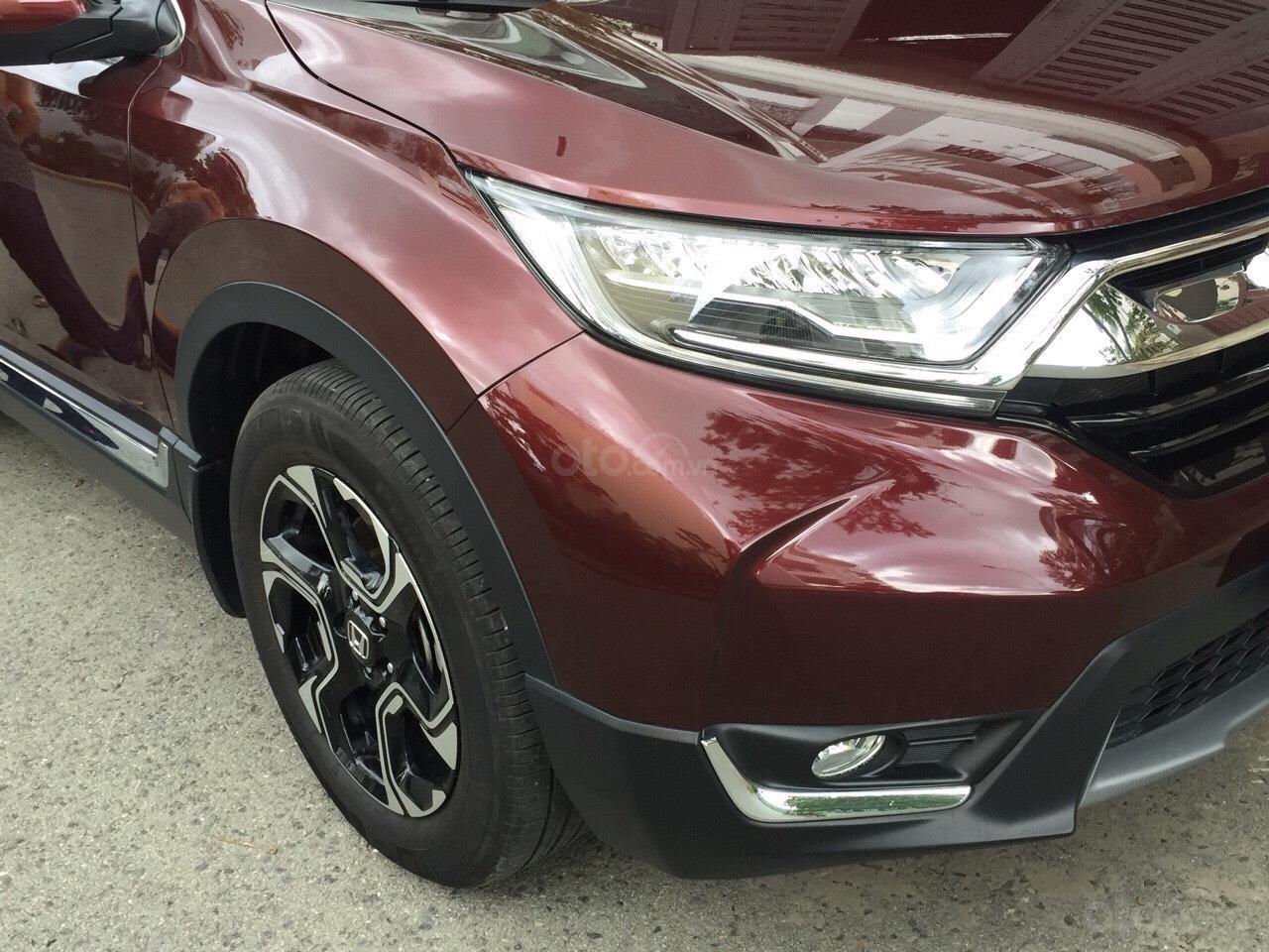 Bán Honda CR-V 1.5G 2018 màu đỏ mận xe đẹp không lỗi đi đúng 11.000km, cam kết chất lượng bao kiểm tra hãng-1