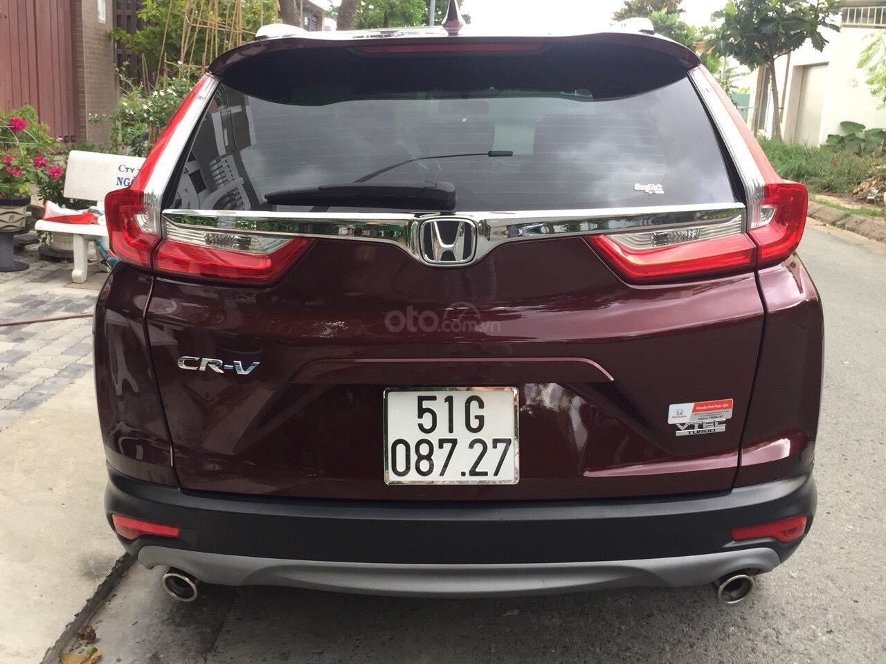 Bán Honda CR-V 1.5G 2018 màu đỏ mận xe đẹp không lỗi đi đúng 11.000km, cam kết chất lượng bao kiểm tra hãng-5